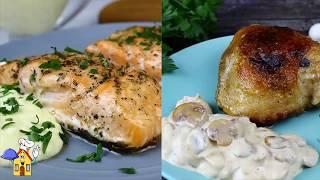 Ужин без возни и заморочек! Сразу 2 вкусных рецепта + Соусы