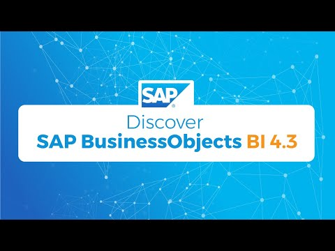 Discover SAP BusinessObjects BI 4 3 - YouTube