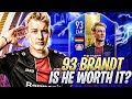 93 TOTS BRANDT IS SO GOOD FIFA 19 Ultimate Team