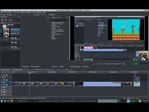 OpenShot Video Editor - Green Screening in Ubuntu - игровое