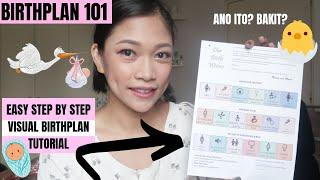 Paano gumawa ng birth plan? | Visual Birth Plan Tutorial | DIY Birthplan