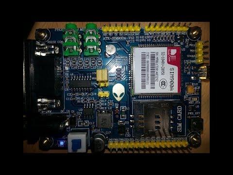 Komunikace s vývojovou deskou s GSM modemem Alientek ATK-SIM900A-V12 ~ Česky ᴴᴰ