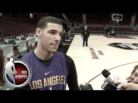 Lonzo Ball on whether he's nervous playing LeBron James, LiAngelo & LaMelo going to Lithuania   ESPN