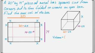 Volume of a Folded Box Problem