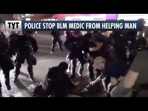 Police Stop BLM Medic From Helping Shooting Victim
