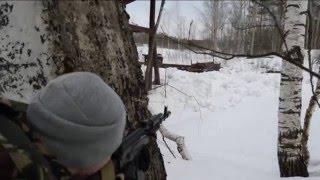 Рельса и 7.62х39-мм автомат АК-103