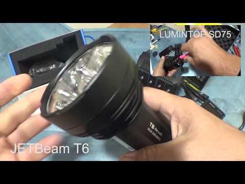 Linterna JETBeam T6 Superior a LUMINTOP SD75