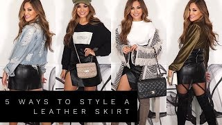 5 WAYS TO STYLE A LEATHER SKIRT | Lina Noory