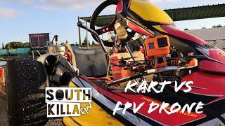 Kart vs fpv Drone (back stage spot #Road&Race #ArtemVideo)