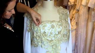 Gold And Ivory Chiffon Wedding Dress