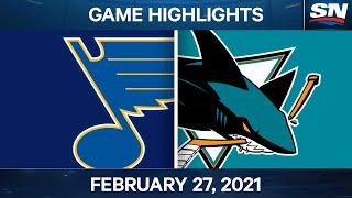 NHL Game Highlights | Blues vs. Sharks - Feb. 27, 2021 by Sportsnet Canada