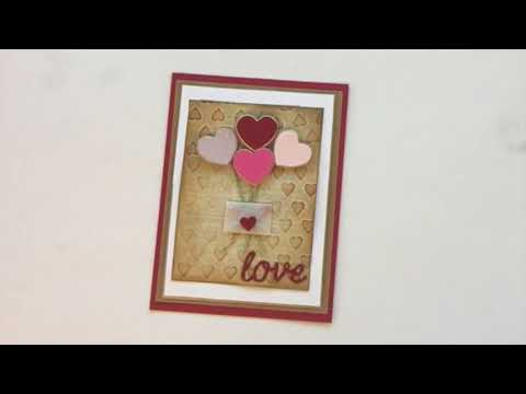 6 Steps With Sizzix in 60 Seconds: Love Heart Balloons Card