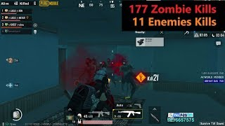 "[Hindi] PUBG Mobile   ""177 Zombie kills & 11 Enemies Kills"" Winner Winner Chicken Dinner"