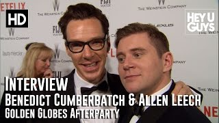 Бенедикт Камбербэтч, Benedict Cumberbatch & Allen Leech Interview - Golden Globes 2015
