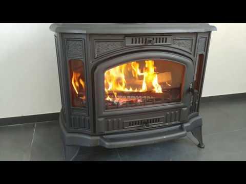 Soba pe lemne din fonta - test ardere de la client