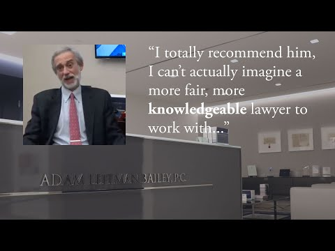 """""""I totally recommend him, I can't actually imagine a more fair, more knowledgeable lawyer to work with."""" – Jonathan Stern, Adam Leitman Bailey, P.C. Client testimonial video thumbnail"""