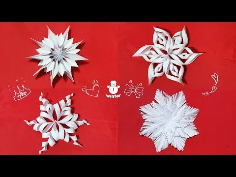 Download How To Make Beautiful Paper Decoration 3d Snowflake For
