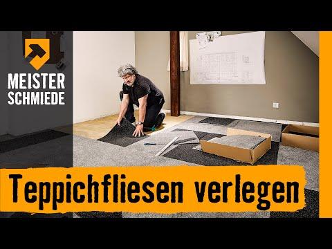 Teppichfliesen verlegen | HORNBACH Meisterschmiede