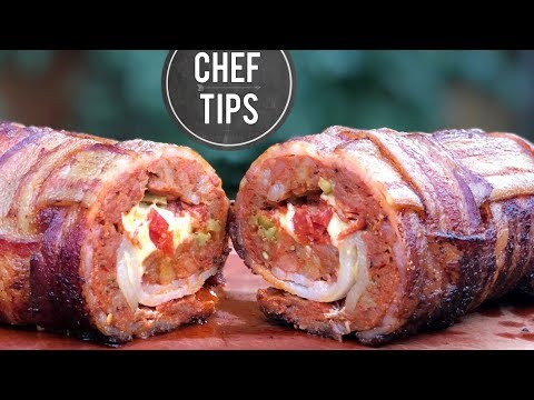 Smoked Fatty Recipe – Bacon Wrapped Meatloaf Recipe
