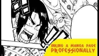 Inking A Manga Page Professionally