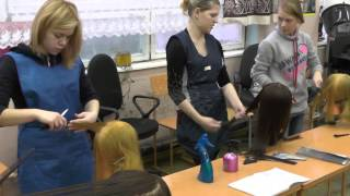 Практическое обучение Парикмахеры (Группа П-25) Профессиоанльное учиище №53 МО