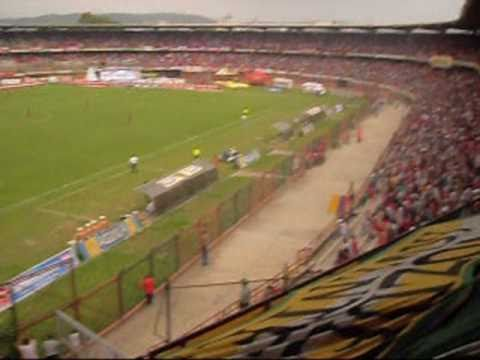 """Cúcuta 1-0 Quindío - Fecha 8 Liga Postobón I 2010"" Barra: Artillería Verde Sur • Club: Deportes Quindío"