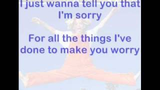I Will Be Yours - Aaron Carter - lyrics on screen