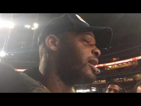 Patriots' Martellus Bennett freestyles at Super Bowl LI