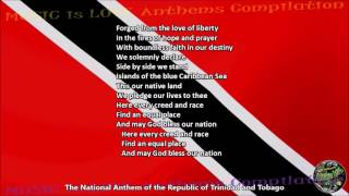 Trinidad and Tobago National Anthem with music, vocal and lyrics ENGLISH