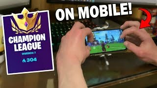 How I Got Into CHAMPION DIVISION As A Mobile Player!