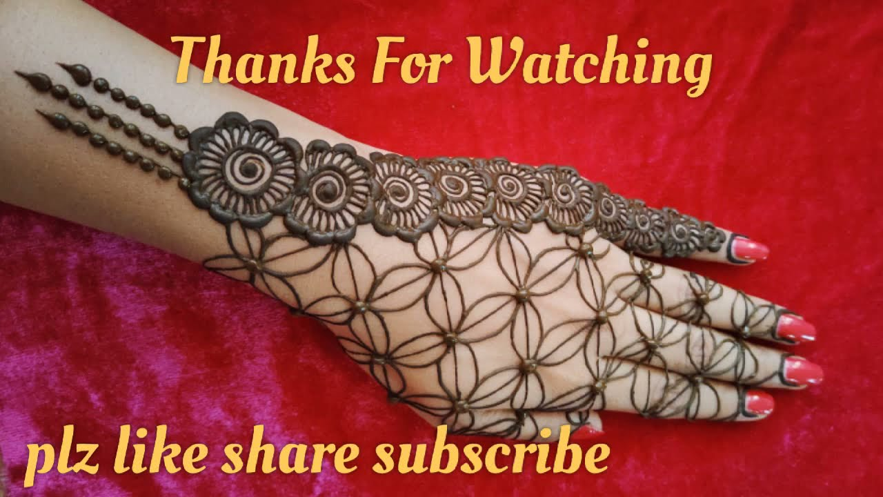 festival day special back hand mehndi design by fashion clock