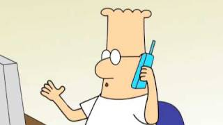 Dilbert: Tech Support Call And Time Management