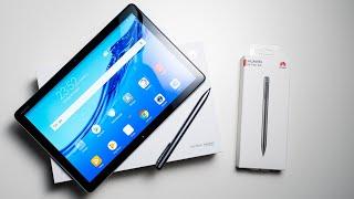 Huawei MediaPad M5 Lite 10 mit M Pen Lite Unboxing & Erster Eindruck | Deutsch