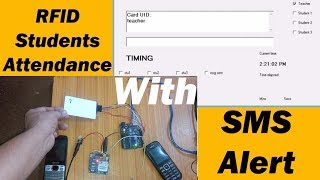 rfid attendance system with sms notification project