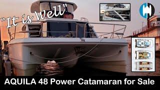 """AQUILA 48 Power Catamaran For Sale 