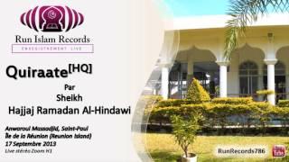 preview picture of video '[LIVE] Sheikh Hajjaj Ramadan Al-Hindawi. Anwaroul Massadjid de Saint-Paul 2013'