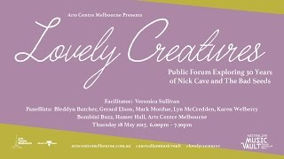 The Arts Centre Melbourne will host a live discussion tonight 6pm AEST