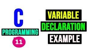 Variable Declaration in C Programming | Video Tutorial