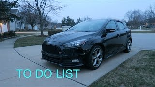 Ford Focus ST To Do List!