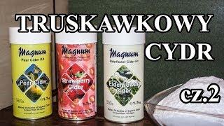 Cydr truskawkowy - część 2. Butelkowanie i degustacja