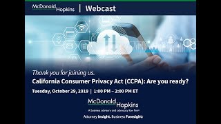 California Consumer Privacy Act (CCPA): Are you ready
