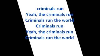 Lana Del Rey  - Criminals Run The World Lyrics HD