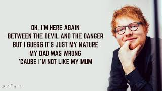 Ed Sheeran - Save Myself (Lyrics)