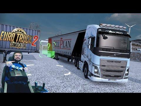 Привет онлайн! Привет дорога дураков! :) Euro Truck Simulator 2 + руль Fanatec ClubSport