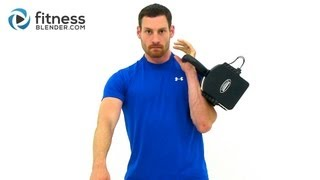 15 Minute Kettlebell Workout Video - 1X10 Kettlebell Burnout by FitnessBlender