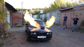 BMW with a jet turbo engine