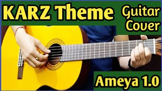 Karz Theme Guitar  Cover Tribute To Gorakh Sharma