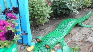 Поделки из шин для сада - крокодил. 35 фото крокодила из шин