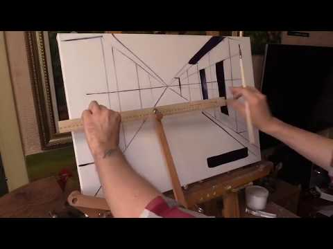 Отрисовка прямых линий на холсте с помощью муштабеля
