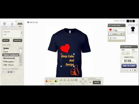 Videos from inkyROBO:  Online T-Shirt Design Software Provider